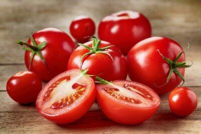 Наклейка Свежие красные помидоры