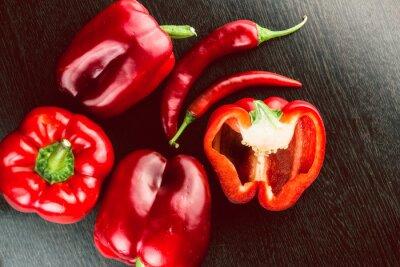 Наклейка Свежие овощи Красочные перец