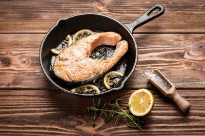 Наклейка Жареный ломтик лосося