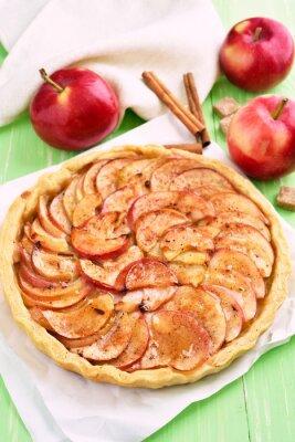 Наклейка Фрукты яблочный пирог на бумагу для выпечки
