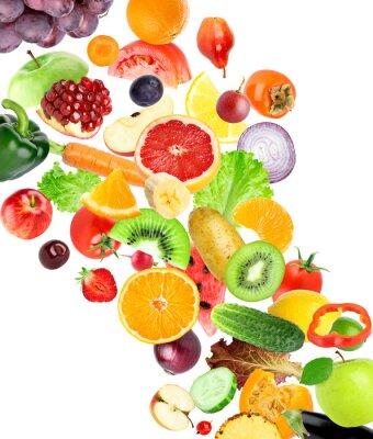Наклейка Фрукты и овощи