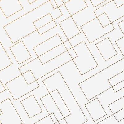 Наклейка Геометрический вектор шаблон, повторяя тонкую линейную квадратную форму ромба и прямоугольник. Чистый дизайн для ткани обои окрашены. Шаблон находится на панели образцов