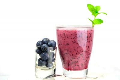 Наклейка Стакан свежего коктейль Blueberry