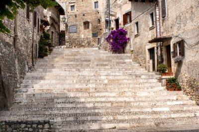 Наклейка Взгляд из старой деревни Сермонета