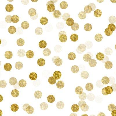 Наклейка Золотой Dots Поддельный Фольга металлический фон узор текстуры