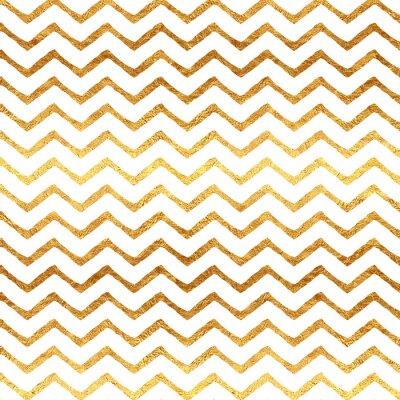 Наклейка Золото Поддельный фольга Chevron Metallic белый фон шаблон