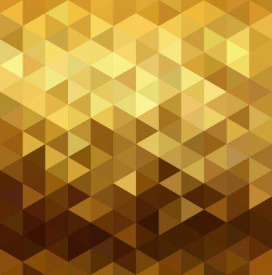 Наклейка Золотой узор низкополигональная геометрии треугольника фантазии