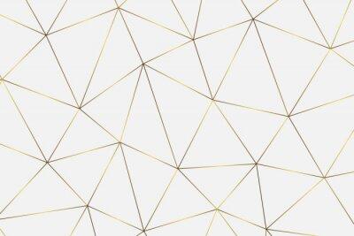 Наклейка золотой геометрический фон