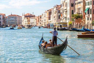 Наклейка Гондола на Гранд-канал в Венеции