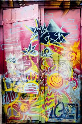 Наклейка Граффити COLORE сюр ипе Porte