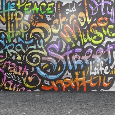 Наклейка Граффити фоне стены