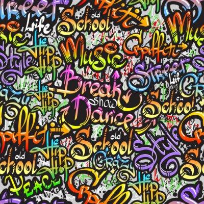 Наклейка Граффити слово бесшовный фон