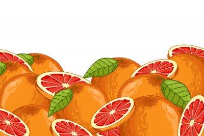 Наклейка Грейпфрут Изолированные на белом фоне. Грейпфрут состав, растения и листья. Органическая еда. Грейпфрут растра.