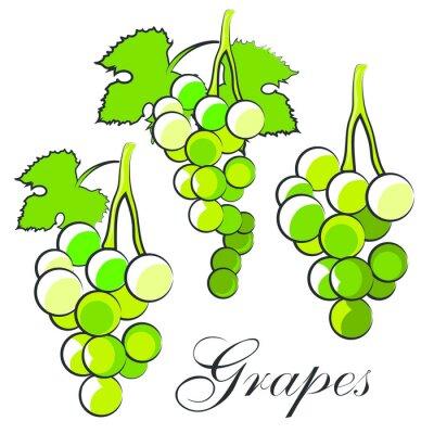 Наклейка виноград