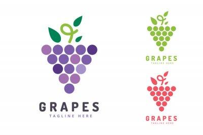 Наклейка Виноград изолированных значок с логотипом
