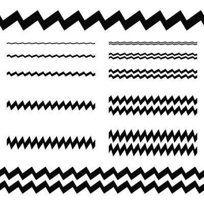Наклейка Элементы Графический дизайн - асимметричный набор линия