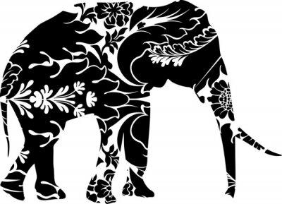 Наклейка Графический слон