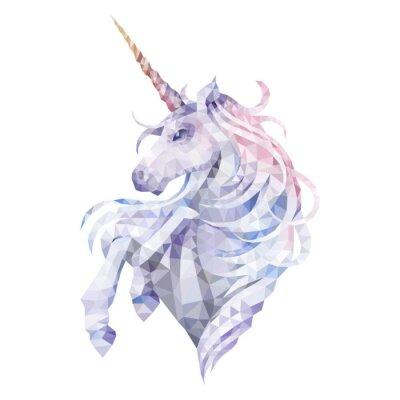 Наклейка Graphic low poly unicorn