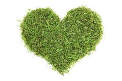 Наклейка Grass cuttings in a heart shape