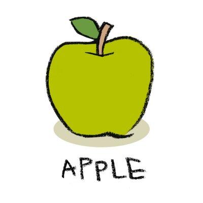 Наклейка Зеленое яблоко