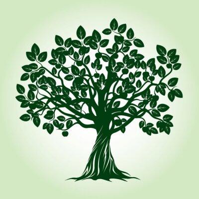Наклейка Green Apple Tree. Векторные иллюстрации.