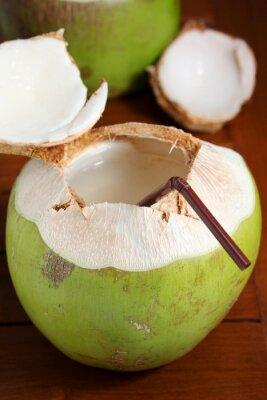 Наклейка Зеленый кокосовой воды
