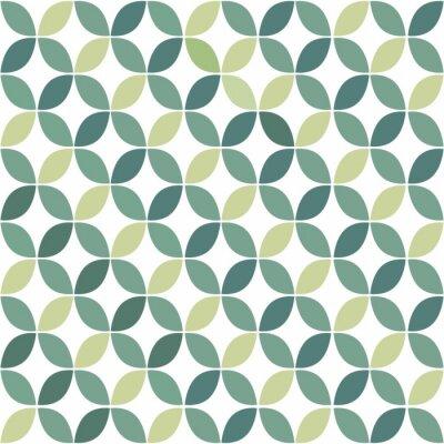 Наклейка Зеленый геометрический ретро бесшовные шаблон