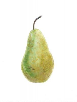 Наклейка зеленая груша