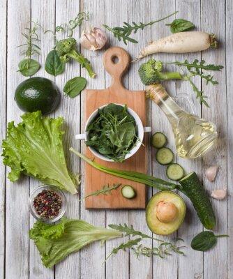 Наклейка зеленые овощи