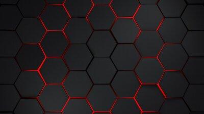 Наклейка Серый и красный шестиугольники современный фон иллюстрации