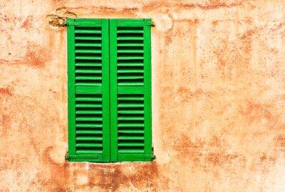 Наклейка Grüne Fensterläden Haus Wand Медитерран Wohnen