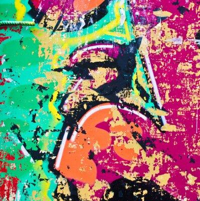 Наклейка Grunge colorful metal background