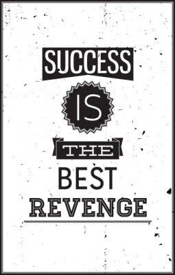 Наклейка Гранж мотивационные плакаты. Успех является лучшим Месть