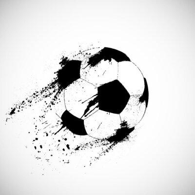 Наклейка Гранж футбольный мяч