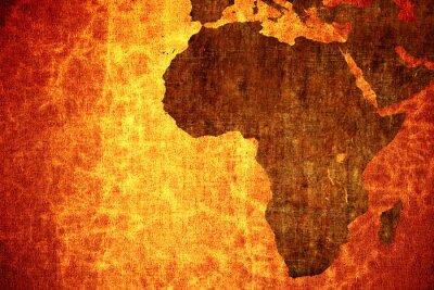 Наклейка Гранж старинные почесал Африка карту фон.
