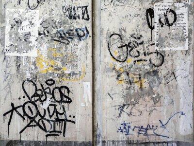 Наклейка Гранж стены текстуры фона в Бангкоке