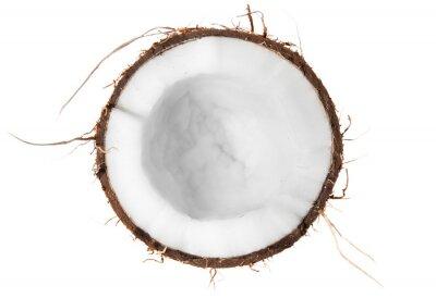 Наклейка Половина сверху кокосовой