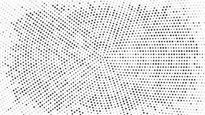 Наклейка Полутоновый точечный фон. Векторные иллюстрации. Круг точек, изолированных на белом фоне.