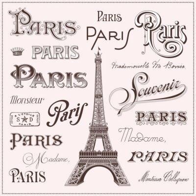 Наклейка hand drawn Paris design elements