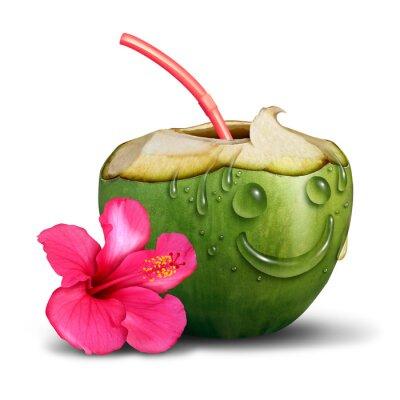 Наклейка Счастливый Тропический напиток Концепция