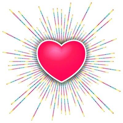 Наклейка Happy Valentines день празднование фон