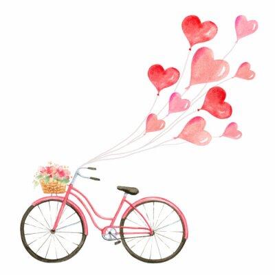 Наклейка Счастливый день Святого Валентина акварель векторные иллюстрации.