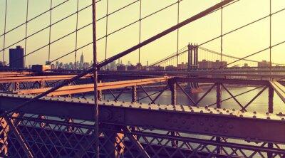 Наклейка Туманный City Skyline от Бруклинского моста на закате