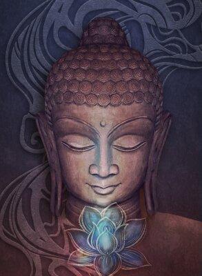 Наклейка Head Smiling Buddha