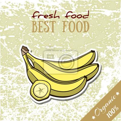 Наклейка Здоровое питание Banana