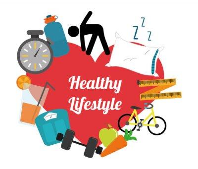 Наклейка здоровый образ жизни