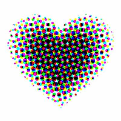 Наклейка Сердце полутонов