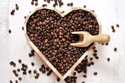 Наклейка Сердце из кофейных зерен