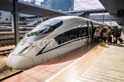 Наклейка High-speed trains in Guangzhou