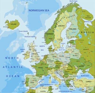 Наклейка Европа.